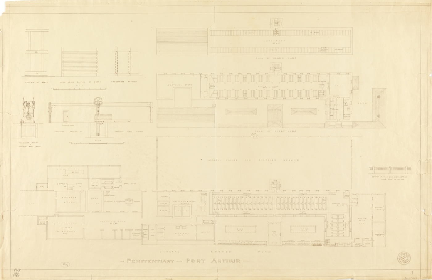 Port Arthur - penitentiary 1917. Tasmanian Archive Heritage Office