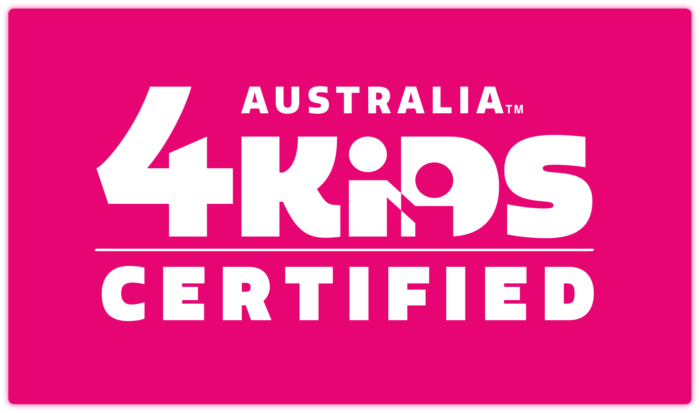 4Kidsaustraliacertified Logo Spot Pink